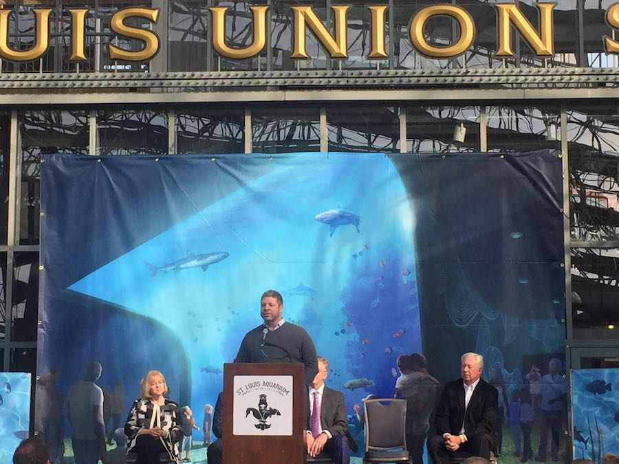 chris davis zooceanarium speaks st. louis aquarium at union station groundbreaking a
