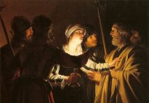 Gerard-van-Honthorst-The-Denial-of-St-Peter-1622-1 minniapolis institute of art