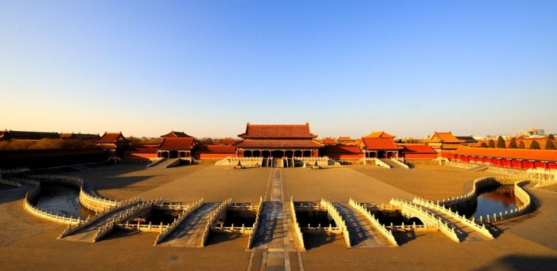 The courtyard of Beijing's Palace Museum