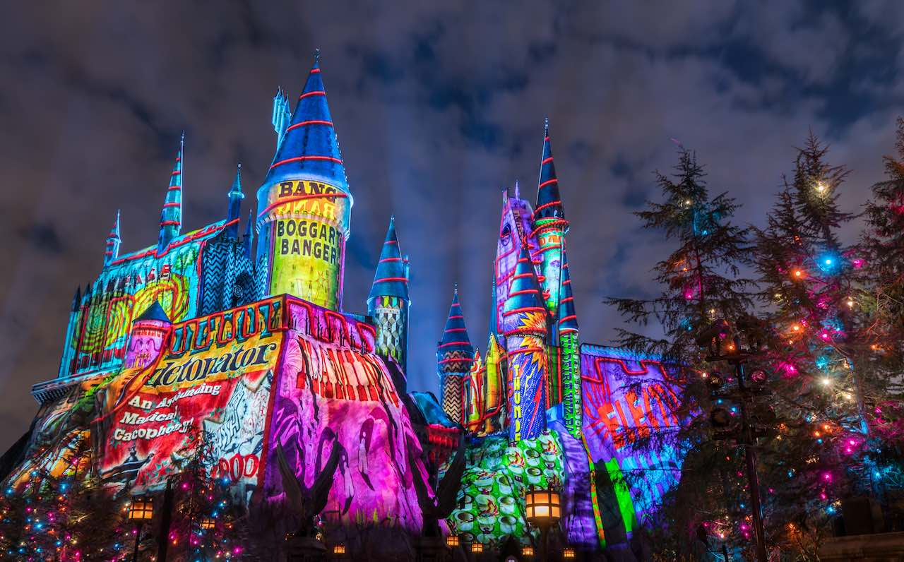 The Magic of Christmas at Hogwarts Castle universal parks orlando harry potter