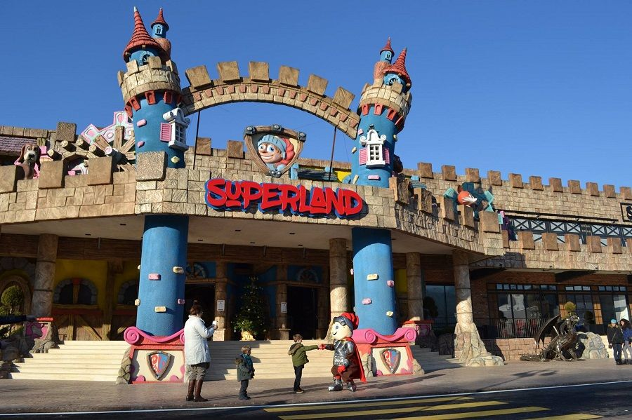 Superland, an amusement park for children in Romania featuring an 8D cinema.