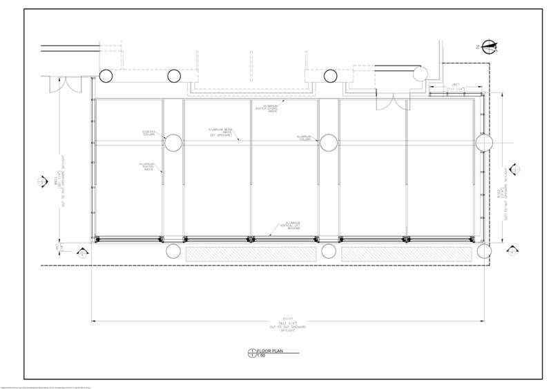 Plan for custom patio by OpenAire for Drake hip-hop OVO brand Toronto