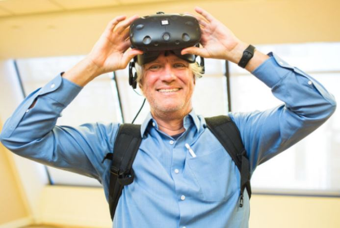 bob cooeny zero latency wearing virtual reality headset webinar