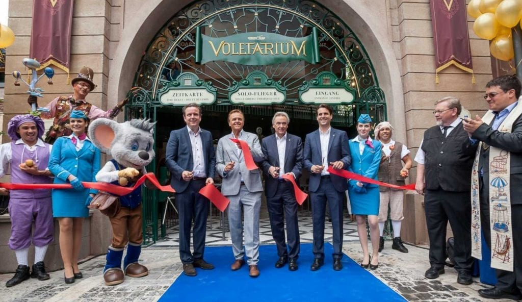 voletarium ribbon cutting ceremony europa-park