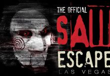 Official Saw Escape Experience logo. Egan Productions, Lionsgate. Las Vegas.