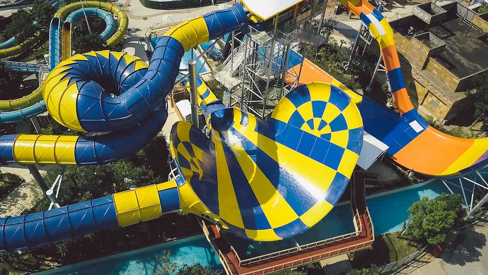 OCT Manta waterparks whitewater aerial view