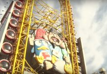 Don Quijote. Ferris wheel. Ebisu. Tourists