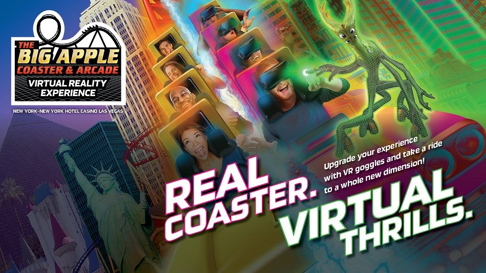 Virtual reality. The Big Apple Coaster. New York-New York. VR experience. VR Coaster.