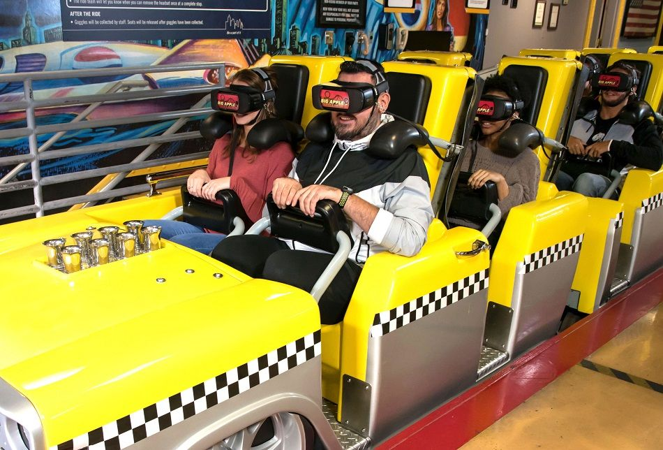 Virtual reality. The Big Apple Coaster. New York-New York. VR experience. VR Coaster.