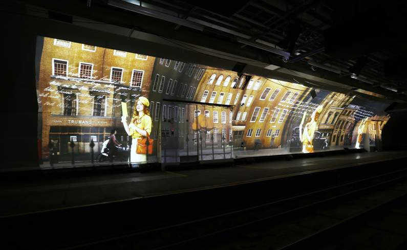 Rail Mail Digital Projection At Postal Museum London