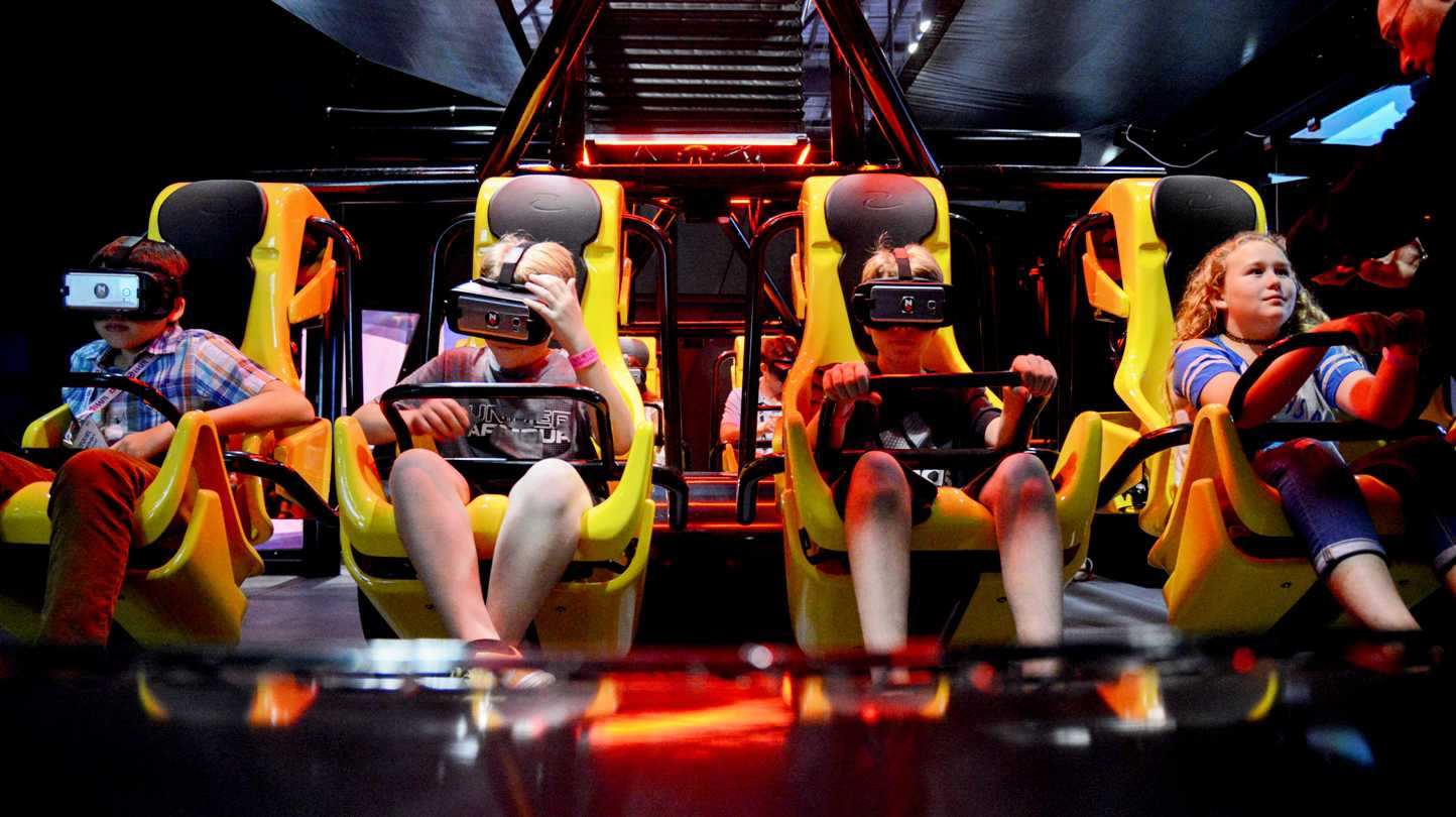 kids experience virtual reality coaster with zamperla Z+ VR Box