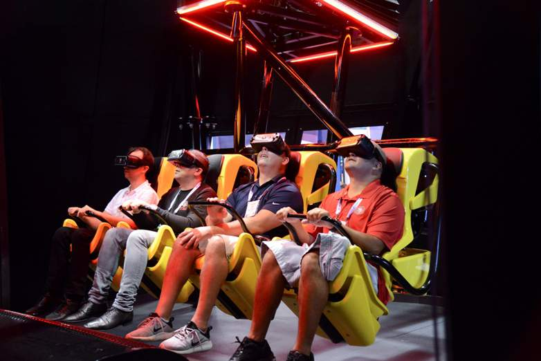 adults experience VR BOX from Zamperla's new Z+ brand brings big coaster experience to small parks and indoor FECs