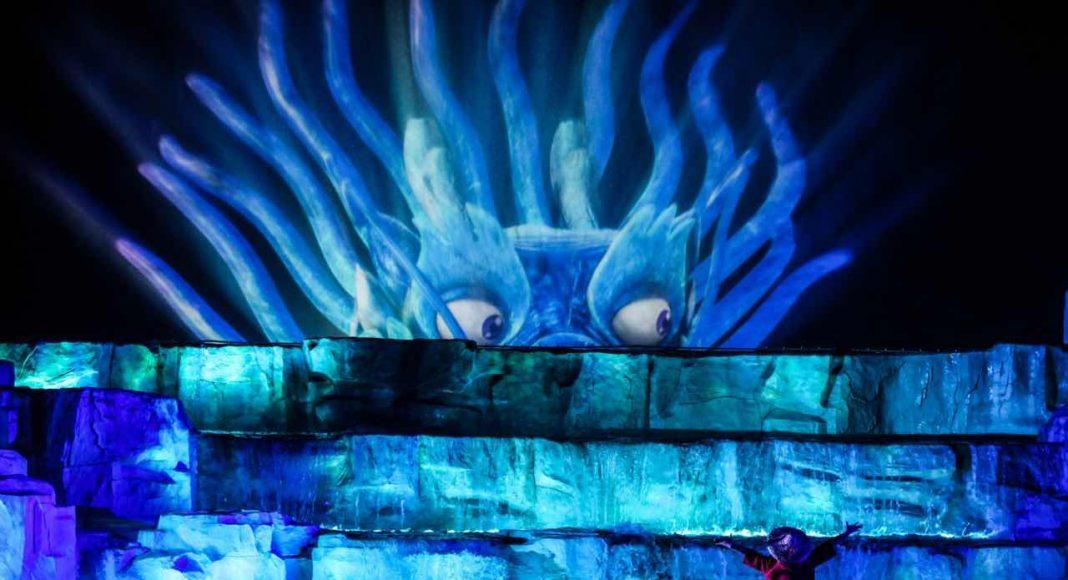 creating nighttime multimedia spectacular eca2 dragon wuyishan