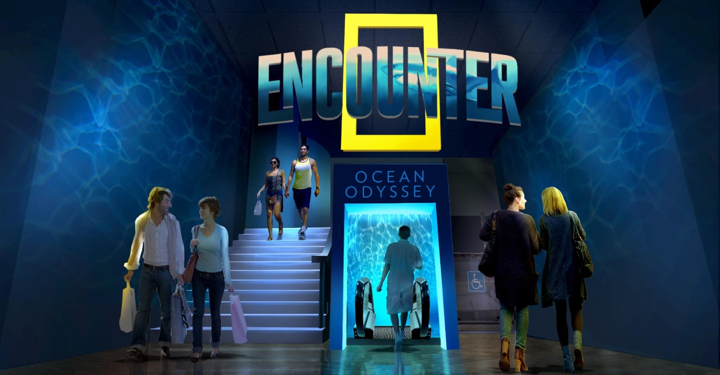 entrance lobby to national geographic encounter ocean odyssey times square