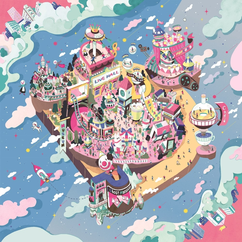 Popcorn D-Square. Animation theme park. Hyduai Development Company. Daewon Media. Seoul.