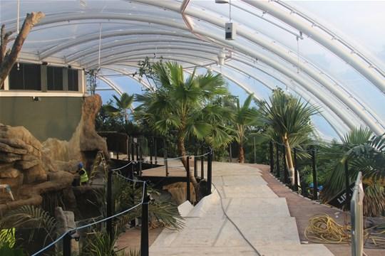 Marwell Zoo. Tropical House. Rainforest exhibit.
