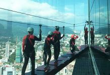 guests try out kanopeo saferoller system on world' highest aerial adventure at komtar penang tower