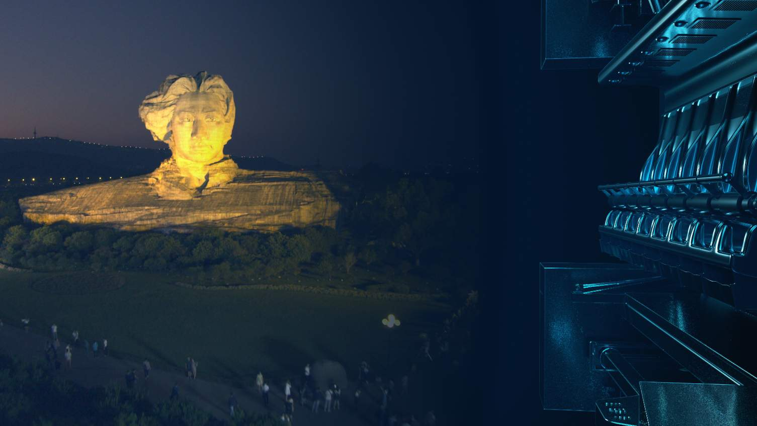 CAVE flying theatre show beautiful hunan at tongguan kiln