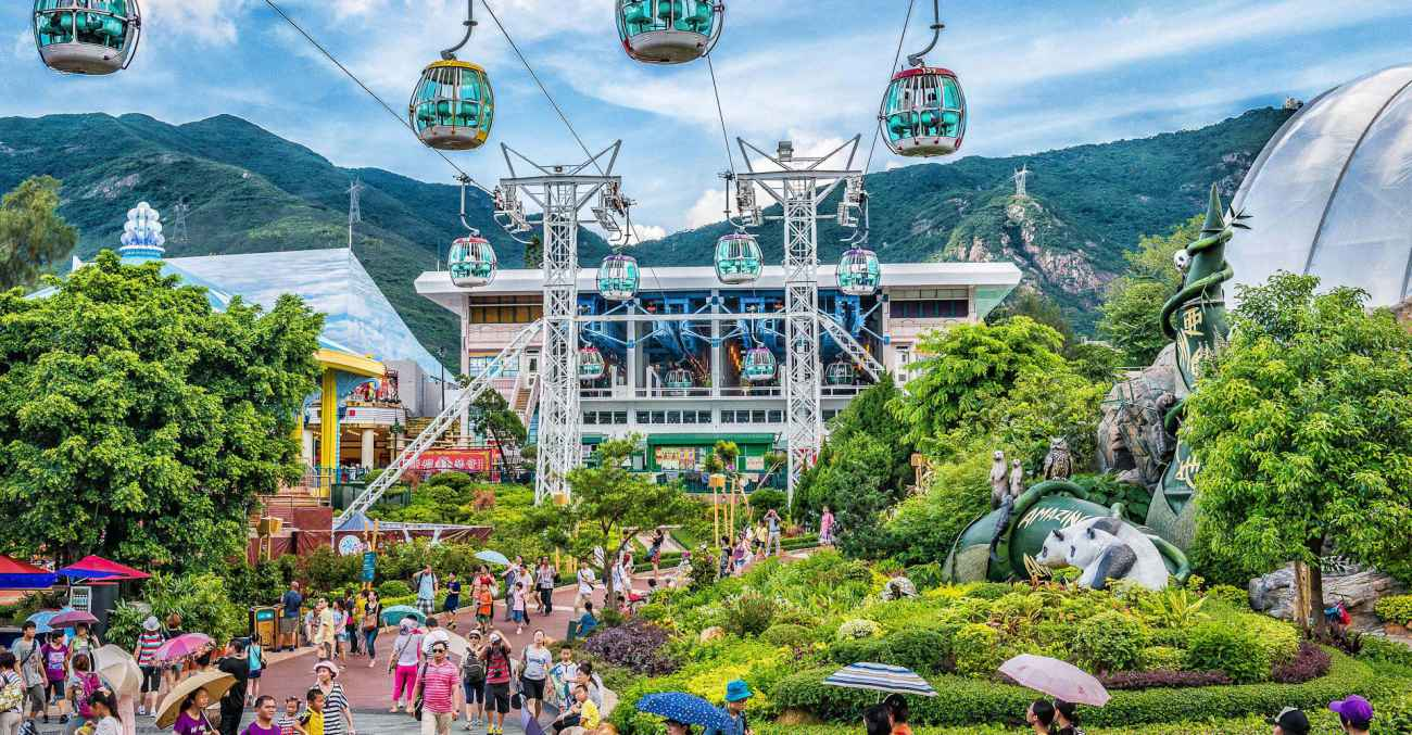 cable car station at hong kong ocean park