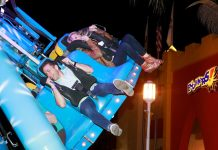 Iaapa FEC Summit people enjoying amusement ride