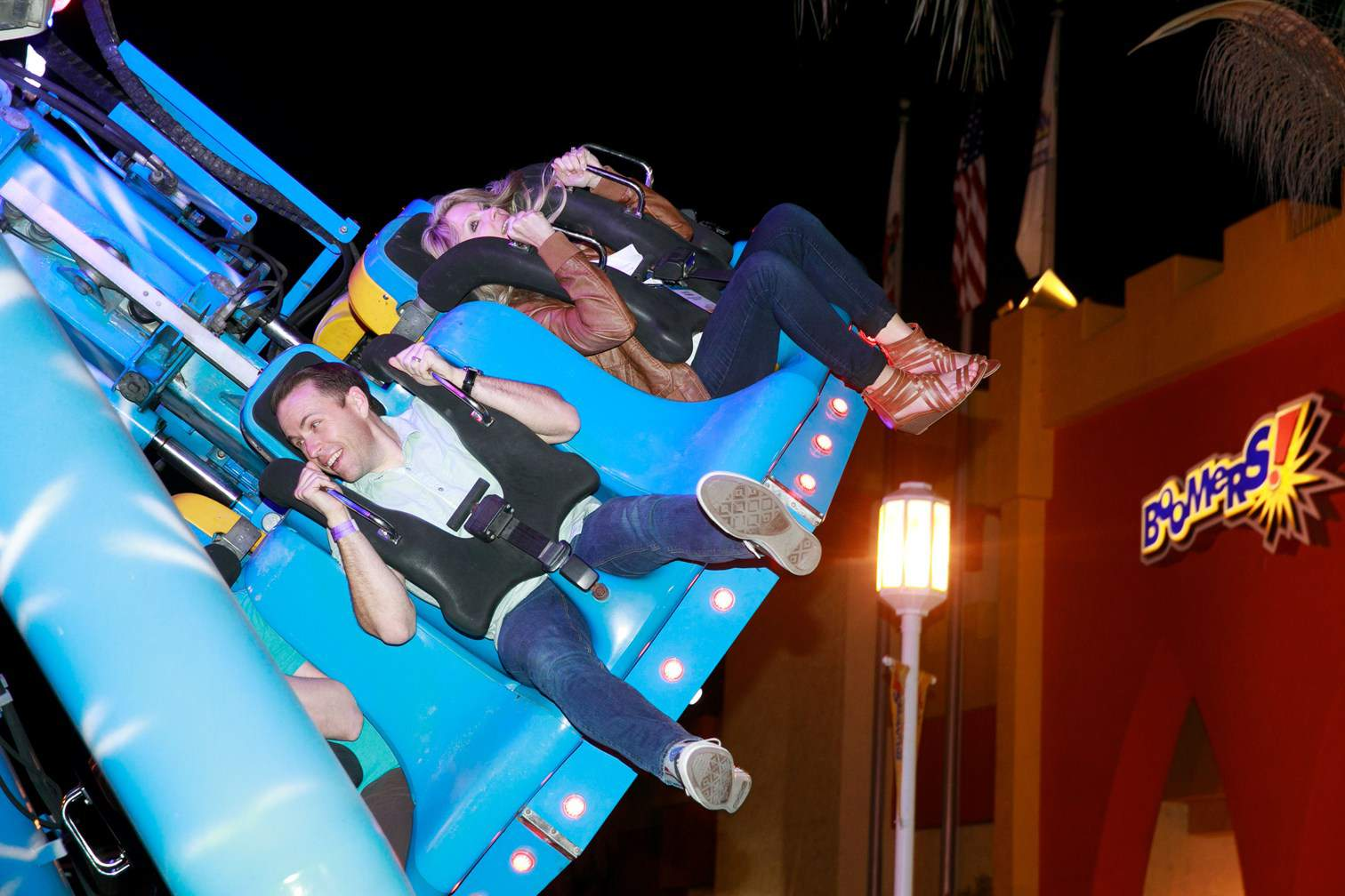 Iaapa FEC Summit people enjoying amusement ride
