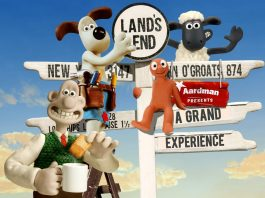 wallace and gromit, morph and shaun the sheep at Land's End