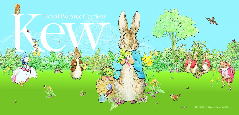 Peter Rabbit Kew Gardens Easter poster