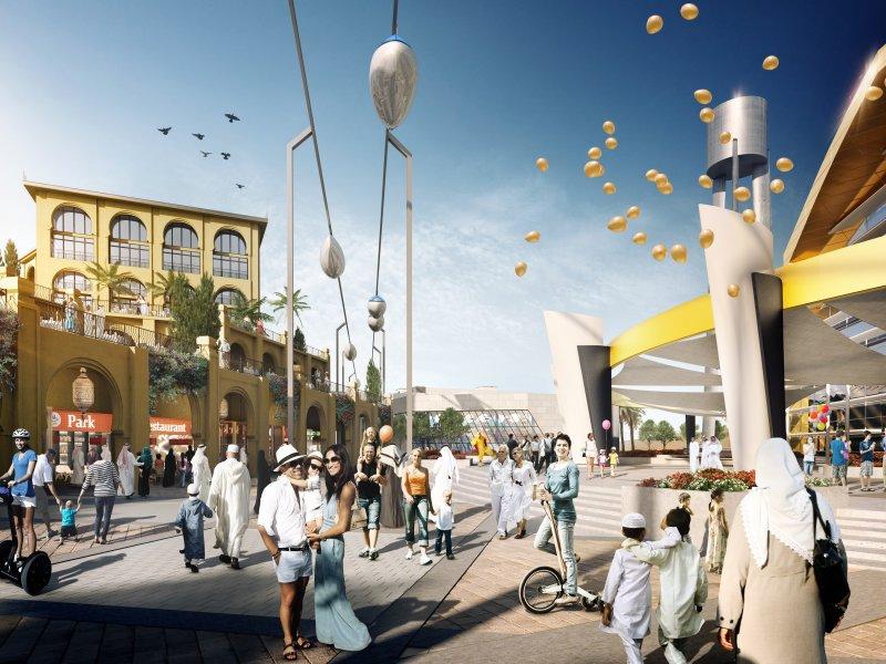 PRT. Personal rapid transit. Yas Island. Abu Dhabi. Warner Bros World. Ferrari World. Miral. Skytran.