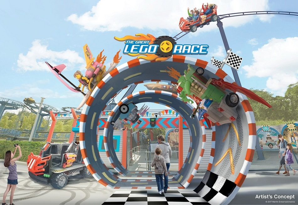 The Great Lego Race. Legoland. Florida. VR coaster. Virtual reality.