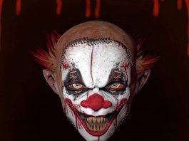 horror clown face grusel clown dark ride prater theme park