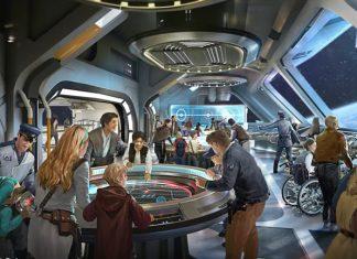 Star Wars immsersive hotel at Star Wars Galaxy's Edge Disney Hollywood Studios.