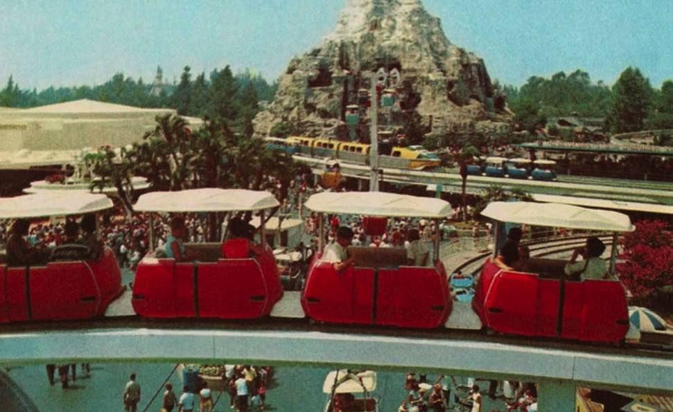 theme park design kinetics tomorrowland skyway
