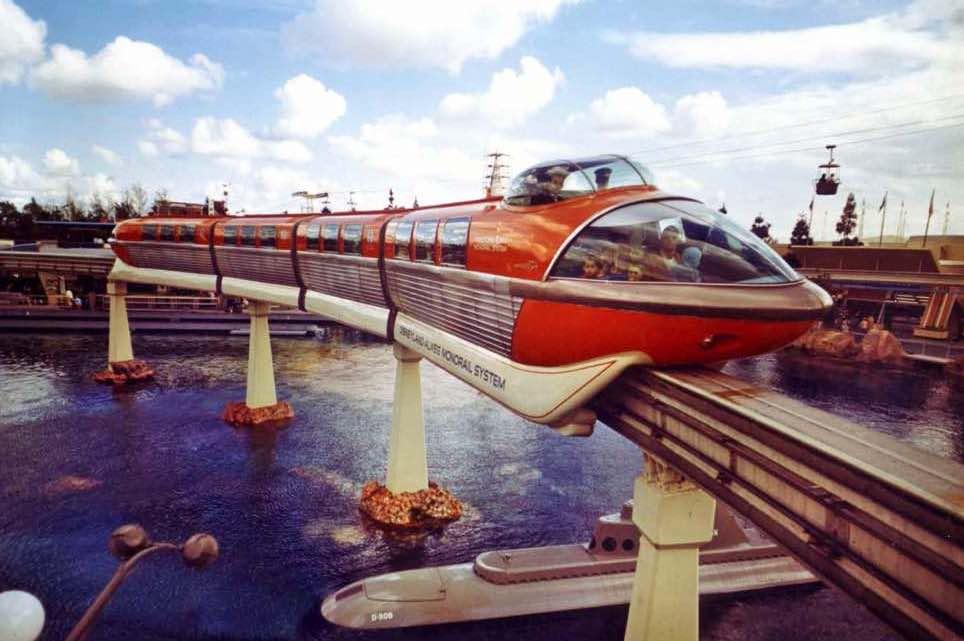 theme park design disneyland monorail system