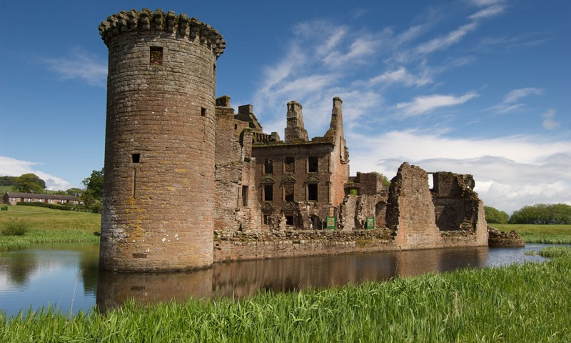 Caerlaverock Castle, part of the Historic Environment Scotland (HES) estate.