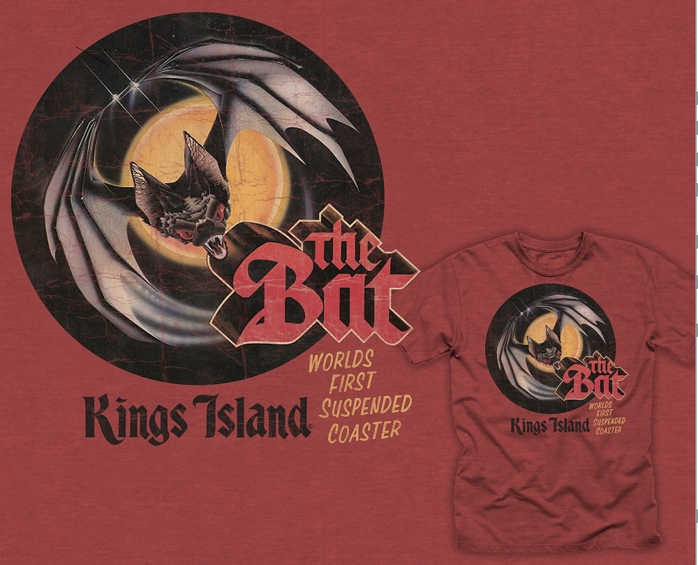 The Bat retro t-shirt from Kings Island