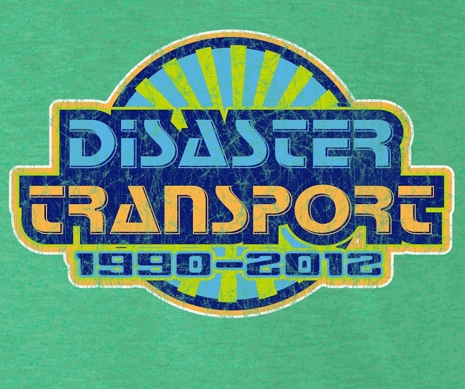 Disaster Transport logo from retro t-shirt
