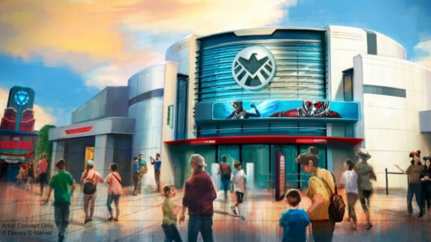 Rendering of the Marvel Ant-Man and The Wasp ride coming to Hong Kong Disneyland