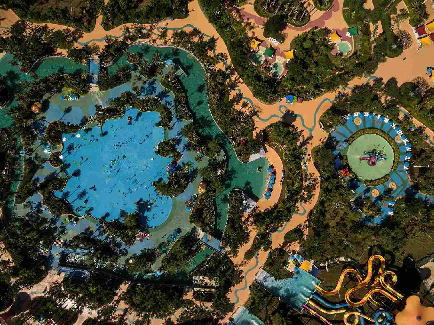 aerial view of Wanda Xishuangbanna International Resort