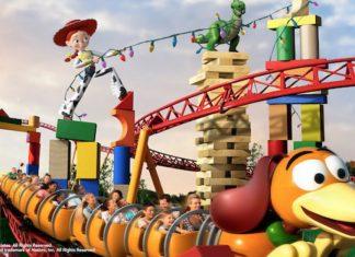 Slinky Dog Dash roller coaster at Toy Story Land in Disney's Hollywood Studios at Walt Disney World Resort in Orlando.