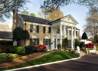 Graceland mansion owned by Elvis Presley Enterprises.