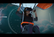 ParadropVR. Paragliding. Universe Science Park. VR. Virtual reality.