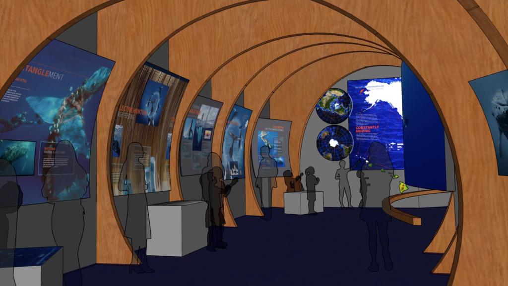 Maui Ocean Center whale exhibit rendering.