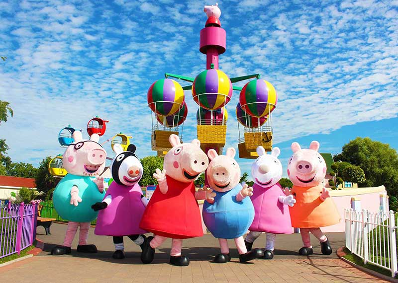 paultons park peppa pigs group
