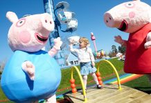paultons park peppa pig world girl