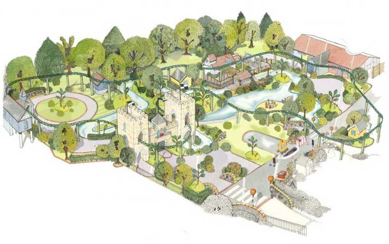 peppa pig world expansion 2018 map