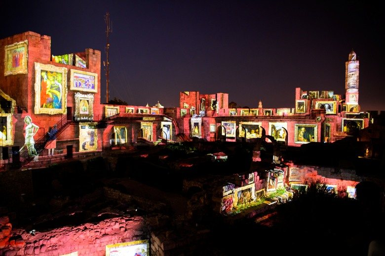 paintings projected onto tower of david citadel jerusalem