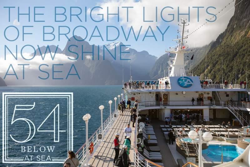 amazara cruise ship deck with passengers feinstein's/54 below