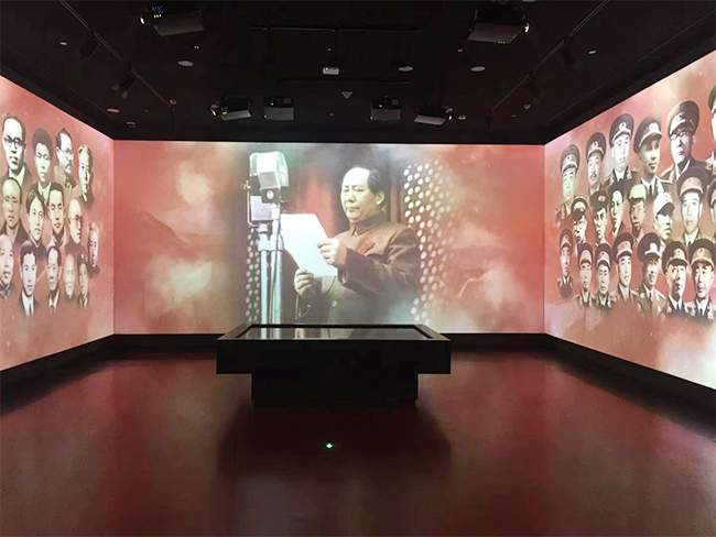 people of hunan exhibit at hunan museum showing chairman mao