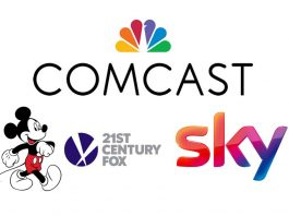Comcast, Disney, 21st Century Fox, Sky logos