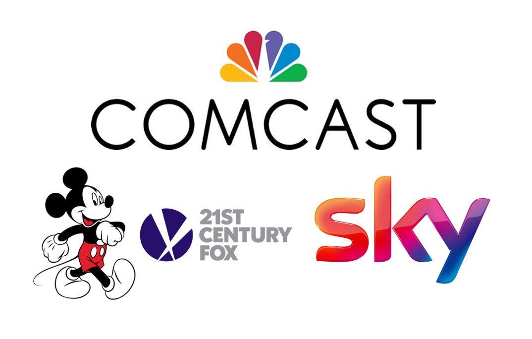 Comcast, Disney, 21st Century Fox, Sky logos